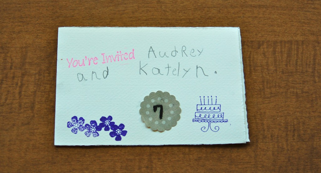 Kid-made Party Invitations Capture Spirit and Save Money