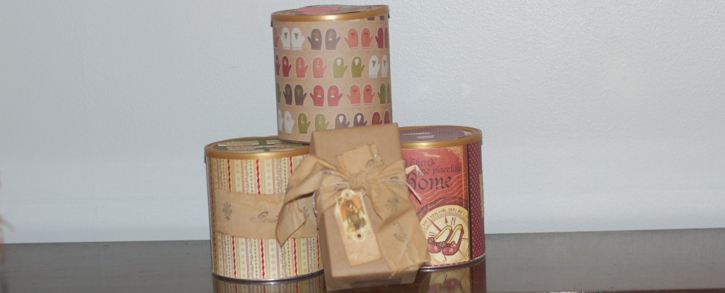 Upcycled canisters and gifts from a special reader