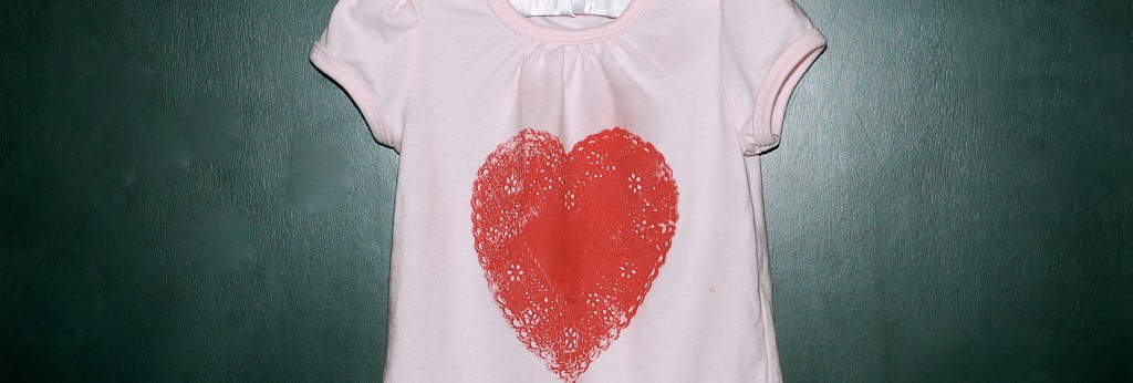 A quick, make-the-night-before Valentine shirt