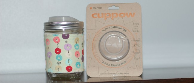 Giveaway: Cuppow mason jar sipping lid and coffee cozy