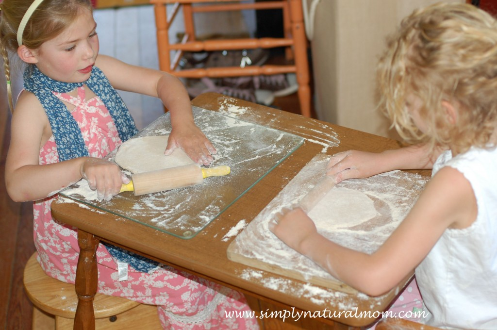 Homemade Pizza Making with Children