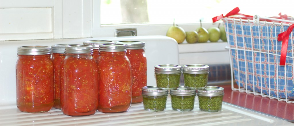There's been a whole lot of canning going on here