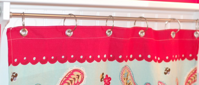 Sew a shower curtain into a window curtain | Simply Natural Mom