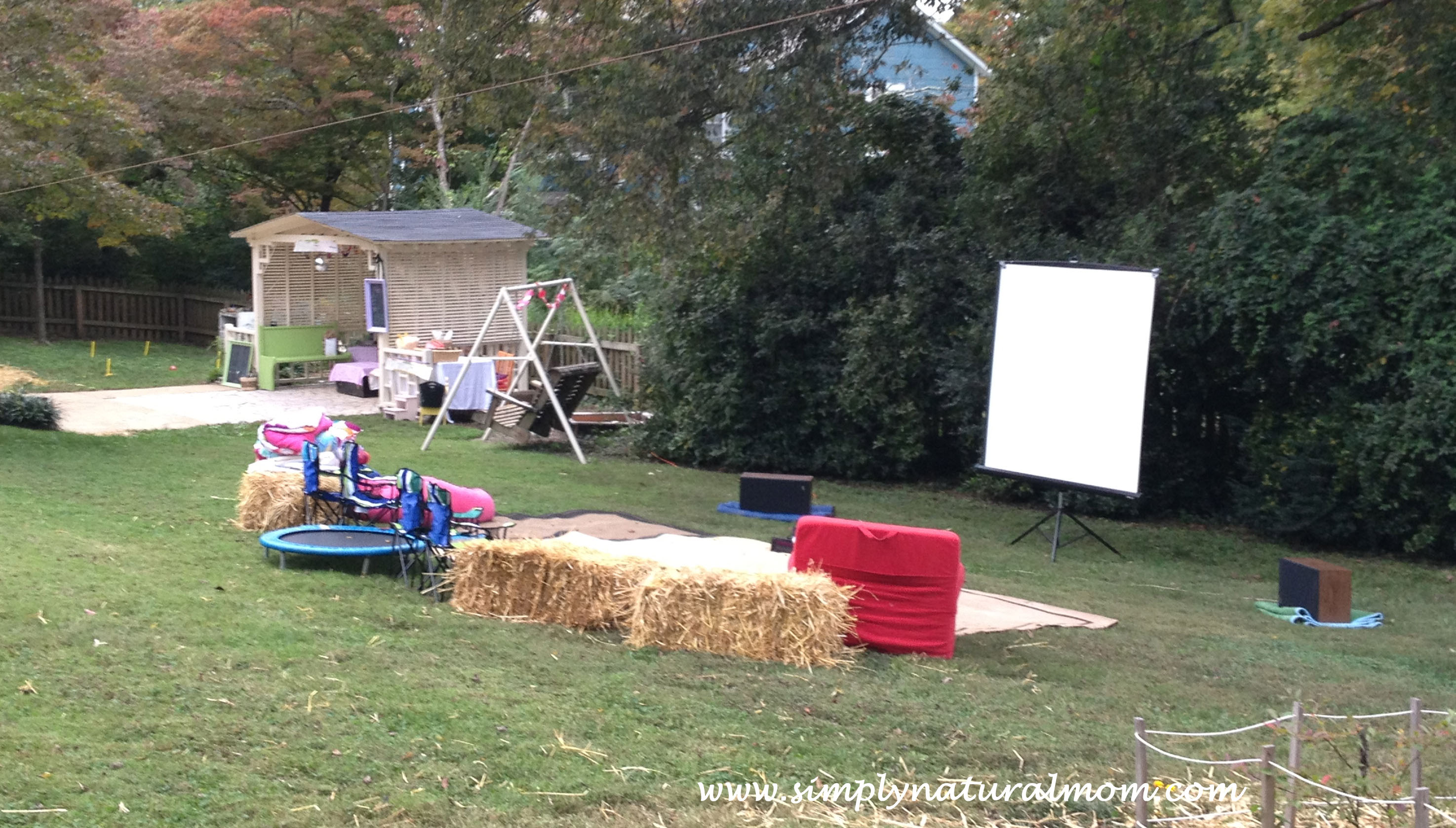 backyard movie night party for our who is 8 simply natural mom