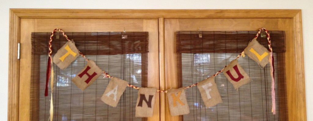 Last minute Thankful banner, for the classroom