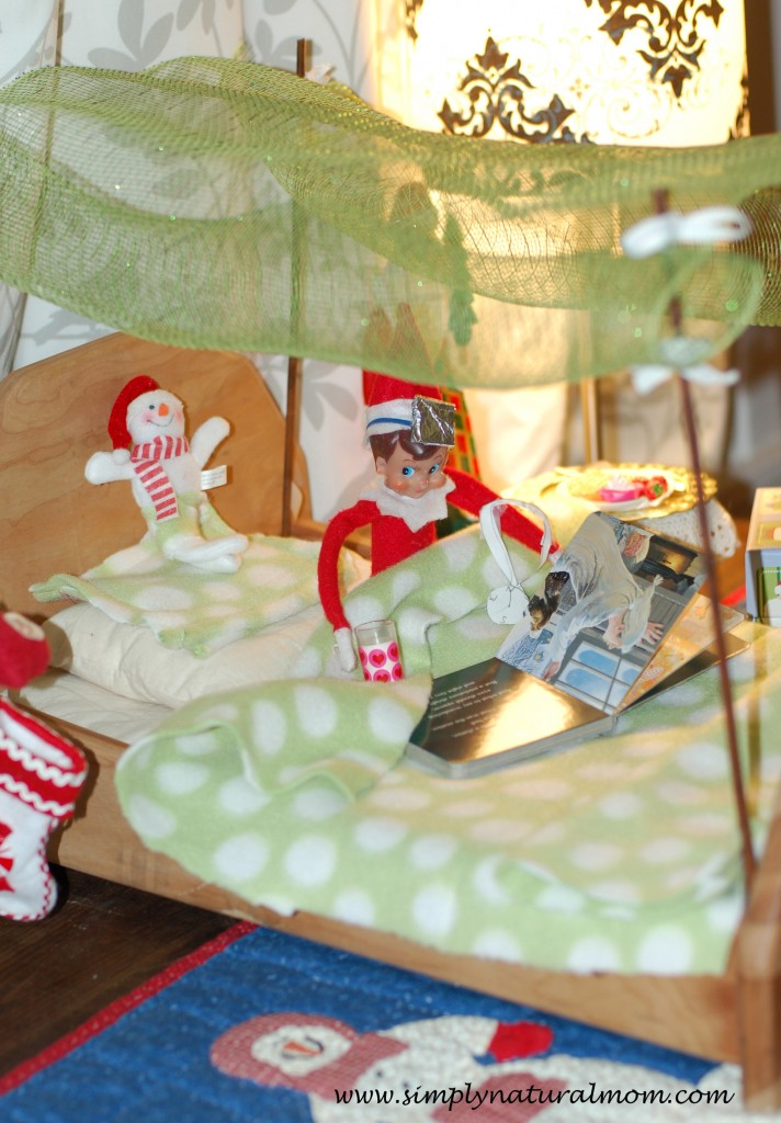 Elf on the Shelf bed and our advent box