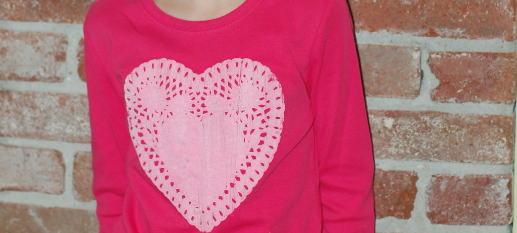 The best quick homemade Valentine shirt