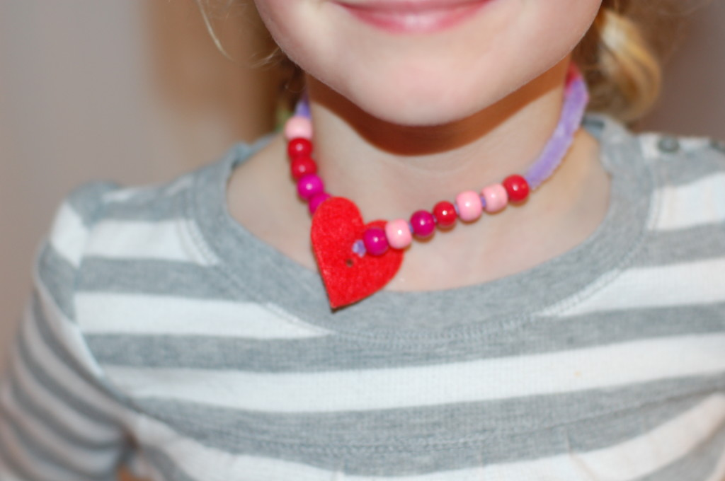 Montessori crafting for Valentine's Day