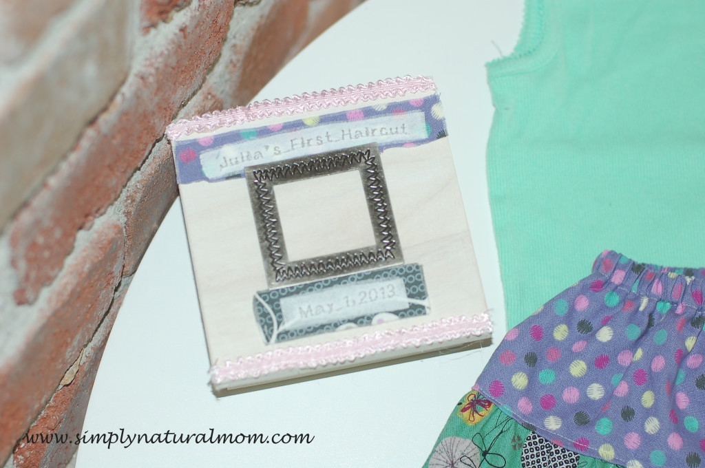 Keepsake box for First Haircut, and sweet twirly skirt