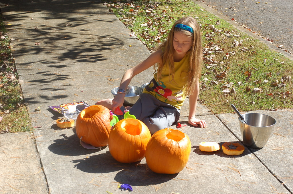 Scooping up the pumpkins and moving on