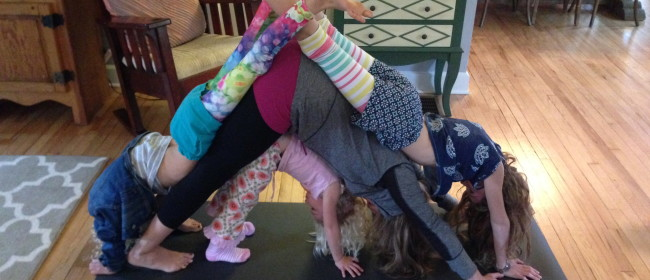 Teaching kids yoga at home