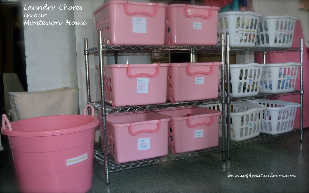 Laundry Chores in our Montessori Home