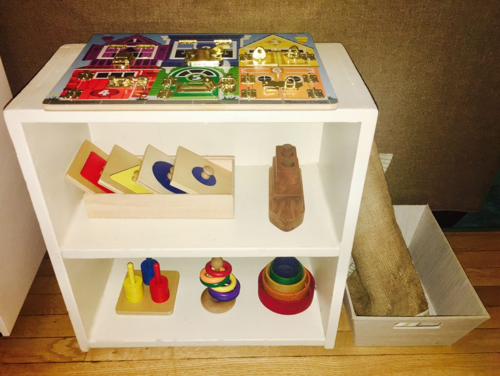 Music and puzzle lesson shelves, plus a Polar Bear report