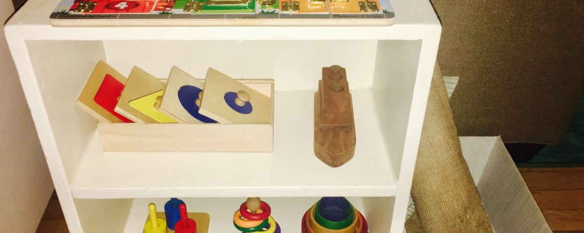 Music and puzzle lesson shelves, plus a Polar Bear report