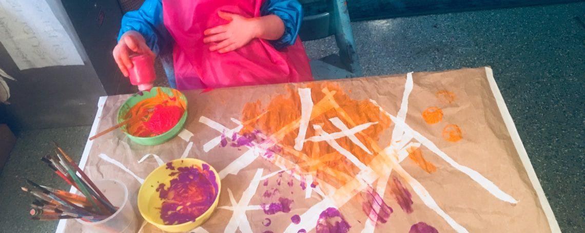 Messy toddler art