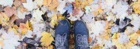 Fall fun with leaf play